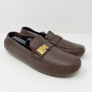 Louis Vuitton Suhali Leather Slip On Loafers Flats
